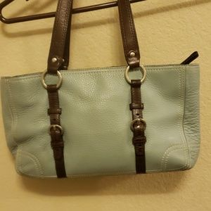 Coach Bags - Coach robins egg and brown tote